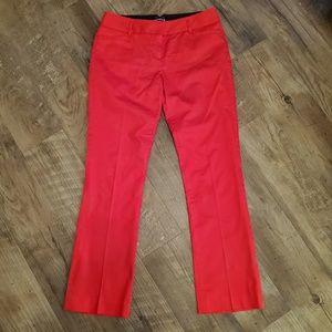 Express slacks, red straight leg, size 4R